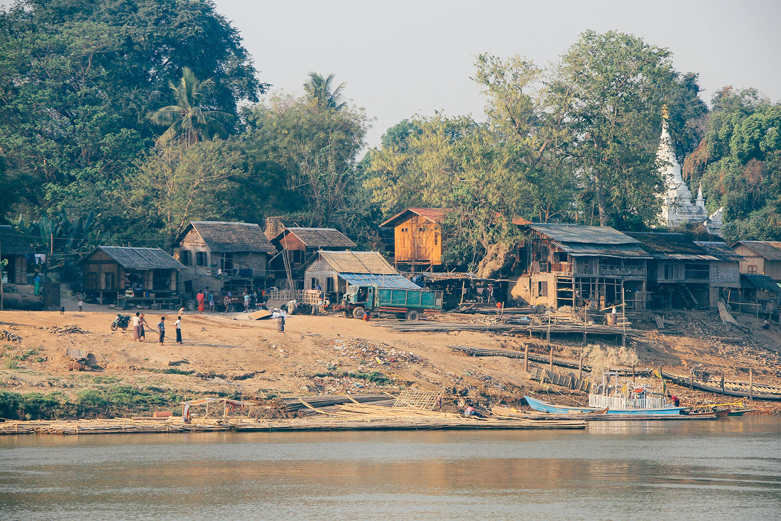 Traveling Myanmar by boat is the most authentic way to experience the countryside and local life