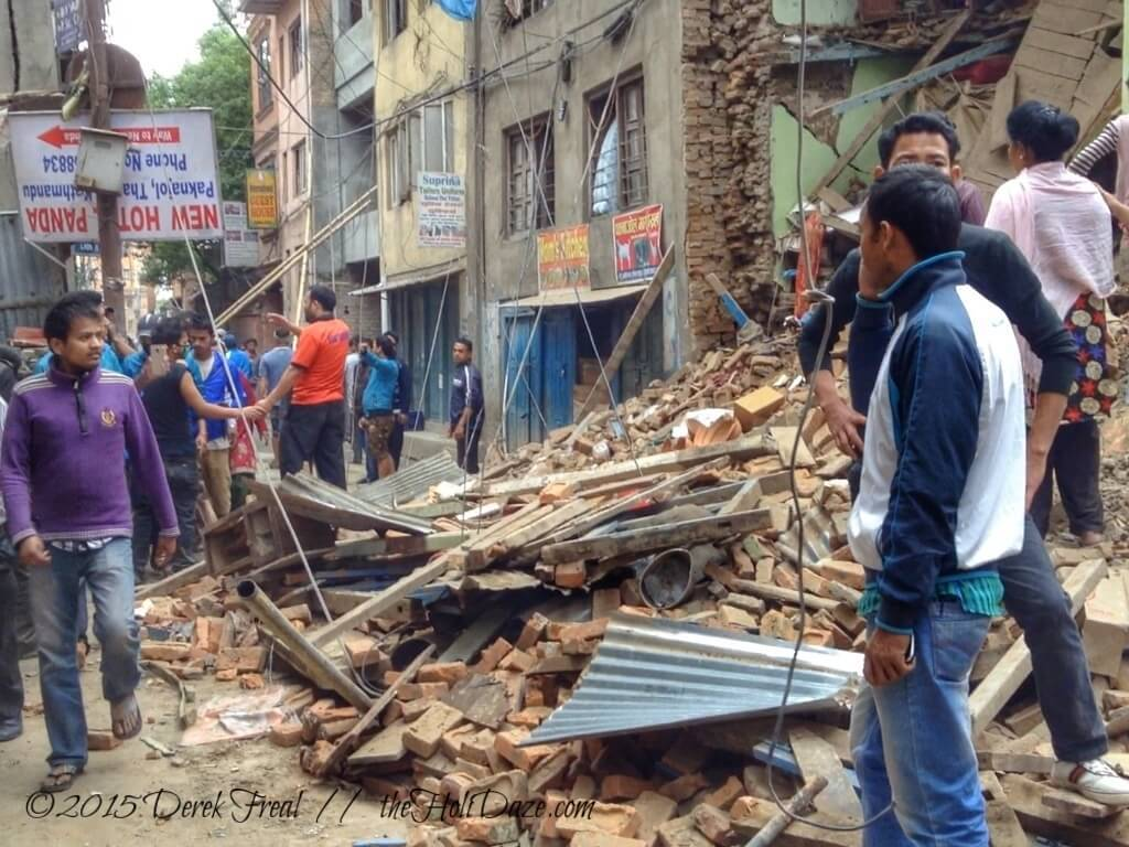 The damage in Kathmandu is extensive.