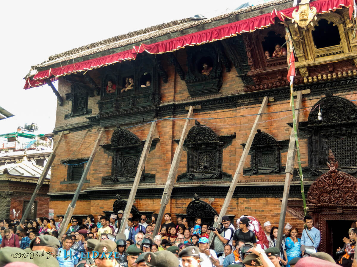 Locals enjoying the Indra Jatra festival 2015