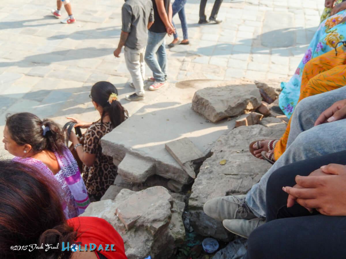 Locals enjoying the Indra Jatra festival 2015