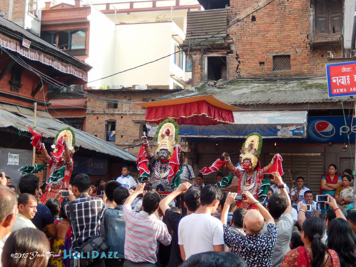 Lakhae dancers at the Indra Jatra festival 2015