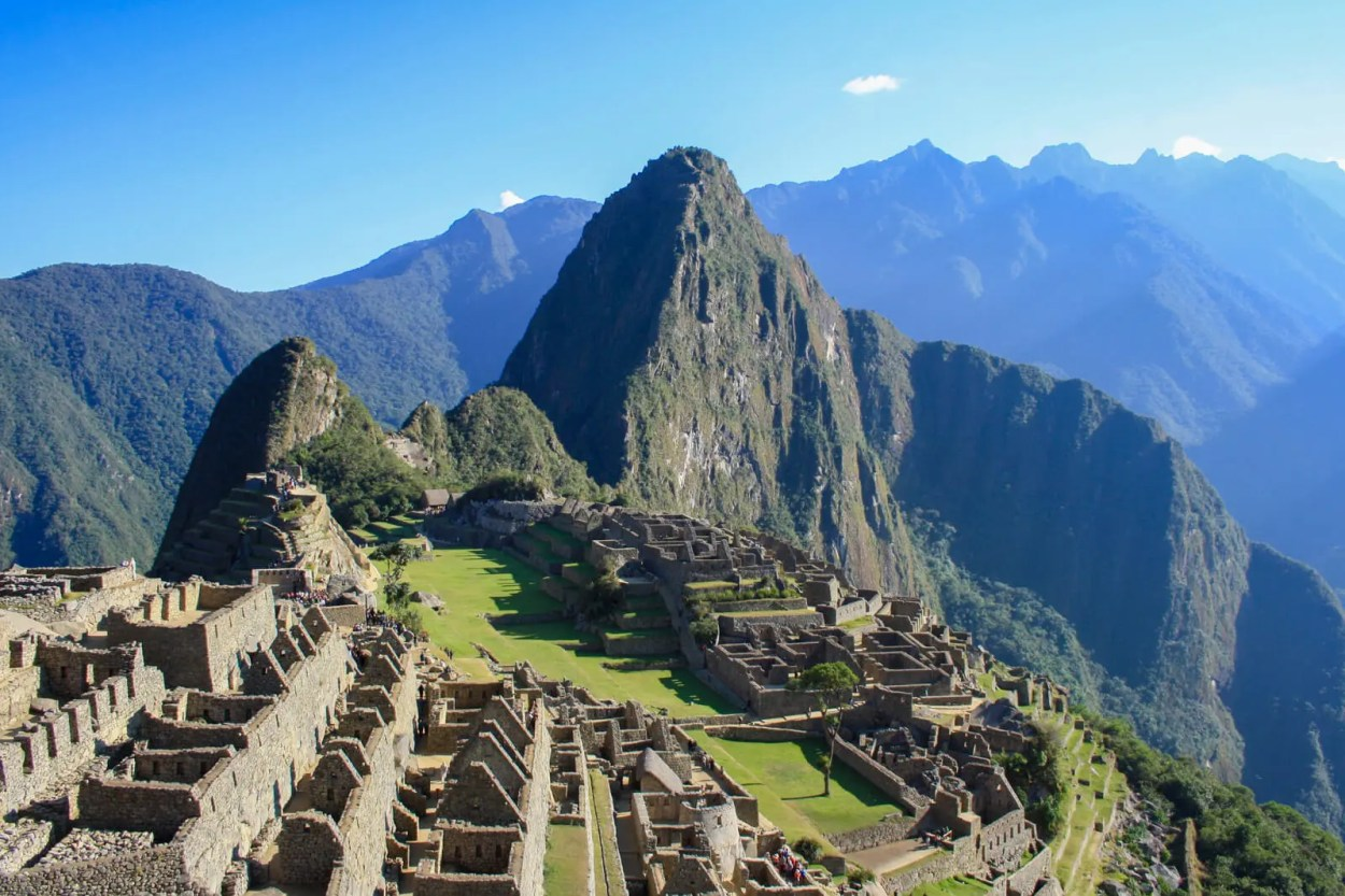 The majestic Machu Picchu, lost city of the Inca hidden high up in the mountains of in Peru