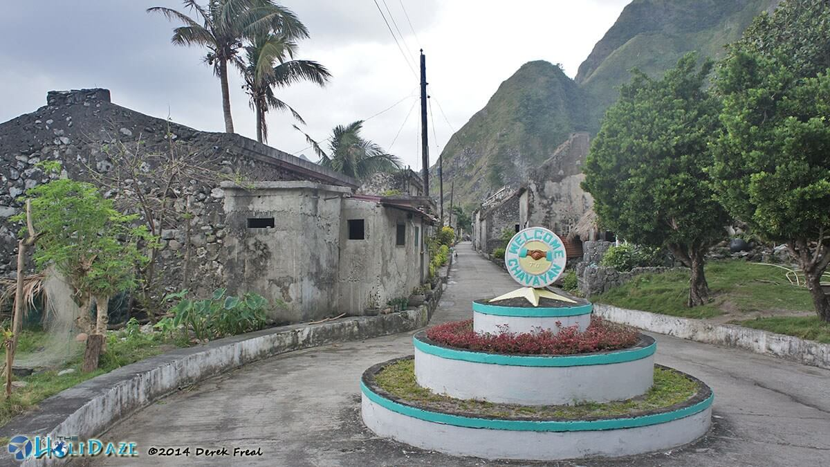 Welcome to Chavayan village on Sabtang island, Batanes, in the northern Philippines