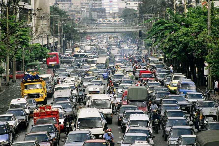 Traffic in Manila, capital of the Philippines