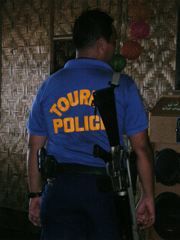 Still not sure if Tourist Police in the Philippines are there to help the tourists or to keep them in line...