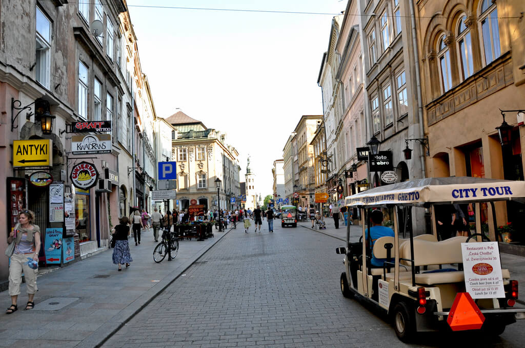 One of the coolest Krakow attractions is Grodzka Street, one of the oldest streets in Krakow, Poland