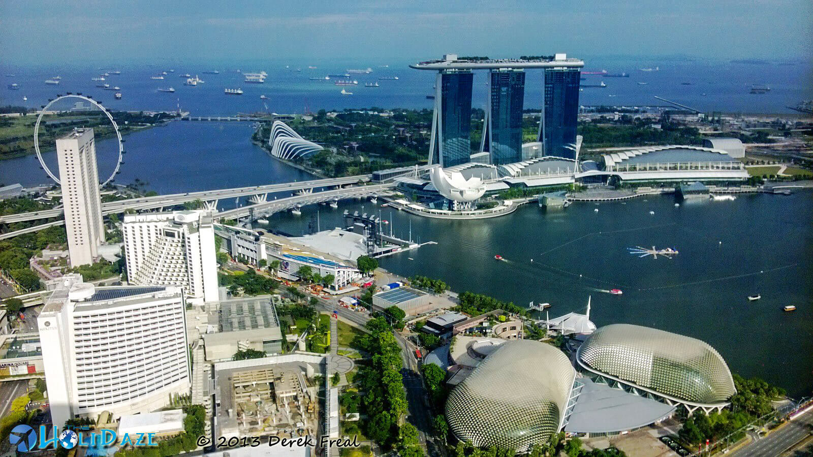 Marina Bay as seen from the 66th floor of Swissôtel