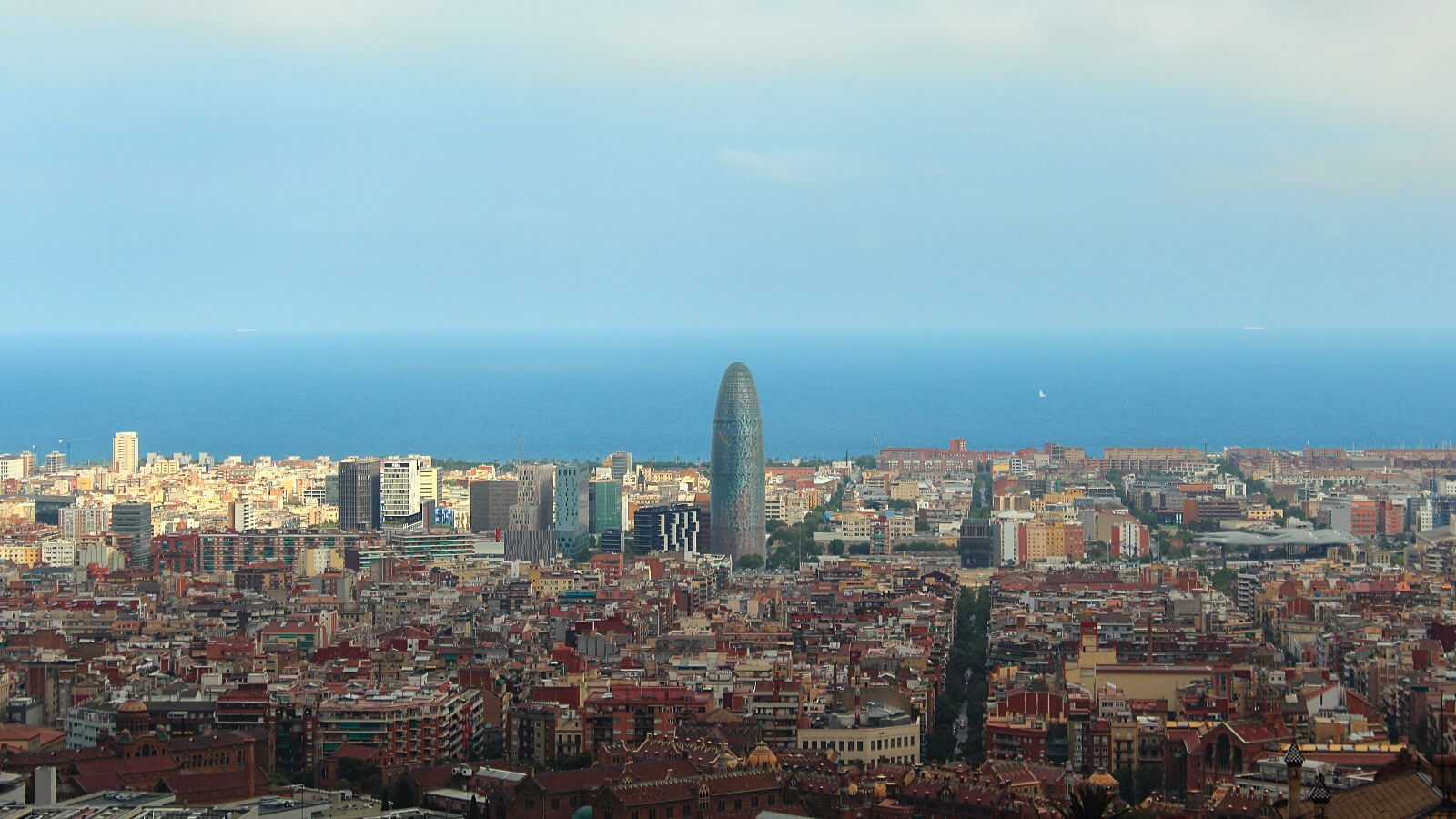 Skyline view of Barcelona, Spain, one of the best destinations for solo female travelers