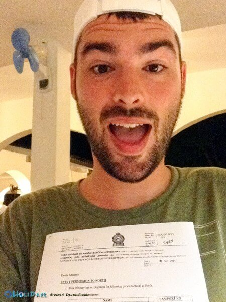 Derek was quite ecstatic whenever he received permission to visit Jaffna