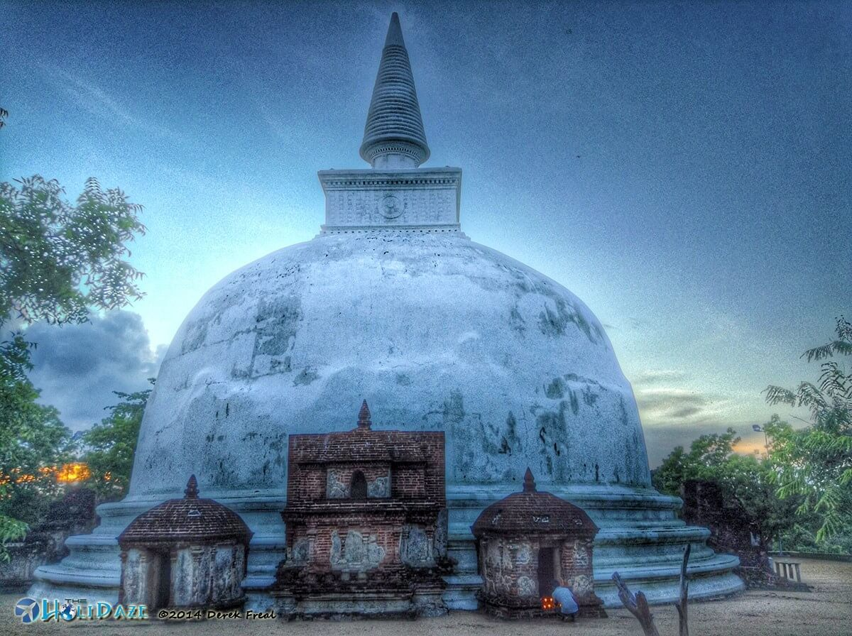 Kiri Vihara stupa, part of the Polonnaruwa ruins in Sri Lanka, a UNESCO World Heritage Site
