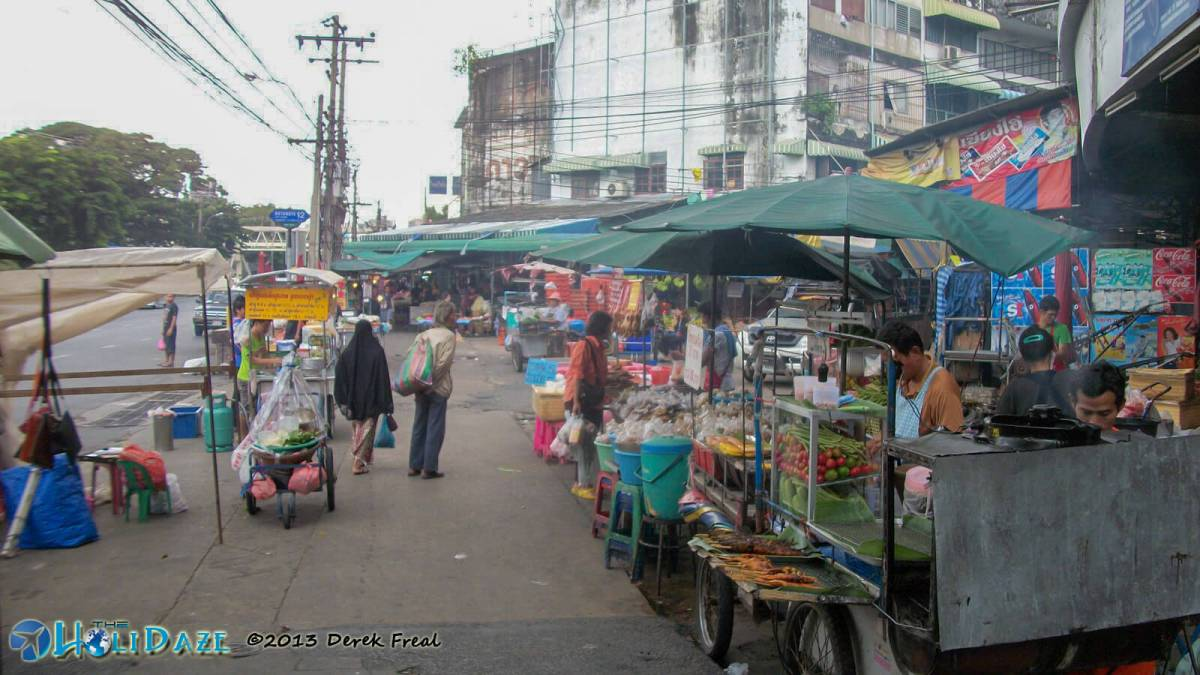 First Impressions of Thailand? There is random street food for sale everywhere.