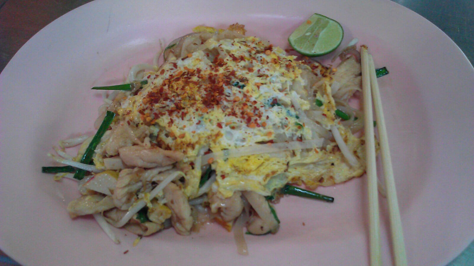 Pad Thai street food in Bangkok