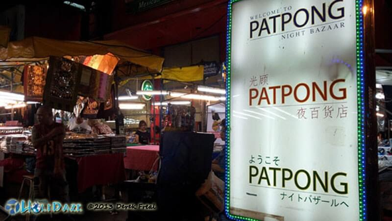 Patpong Night Bazaar in Bangkok -- also home to one of Bangkok's infamous red light neighborhoods where the city is your oyster