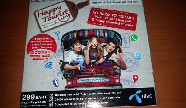 Welcome to Thailand, here is a free SIM card. What a great first impressions of Thailand, the Land of Smiles!