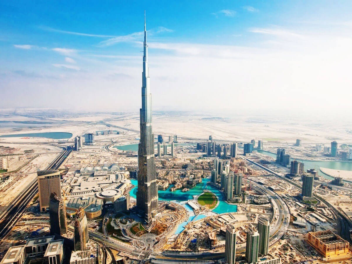 The Burj Khalifa in the United Arab Emirates, is not only the tallest building on earth but also home to the Armani Hotel Dubai, one of the most amazing Dubai luxury hotels