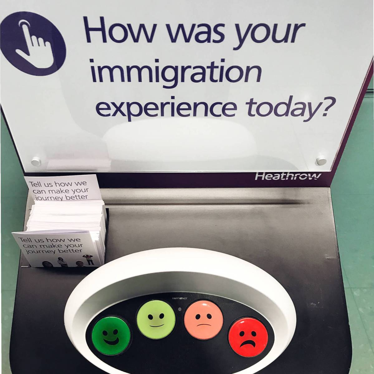 London Heathrow Airport immigration survey
