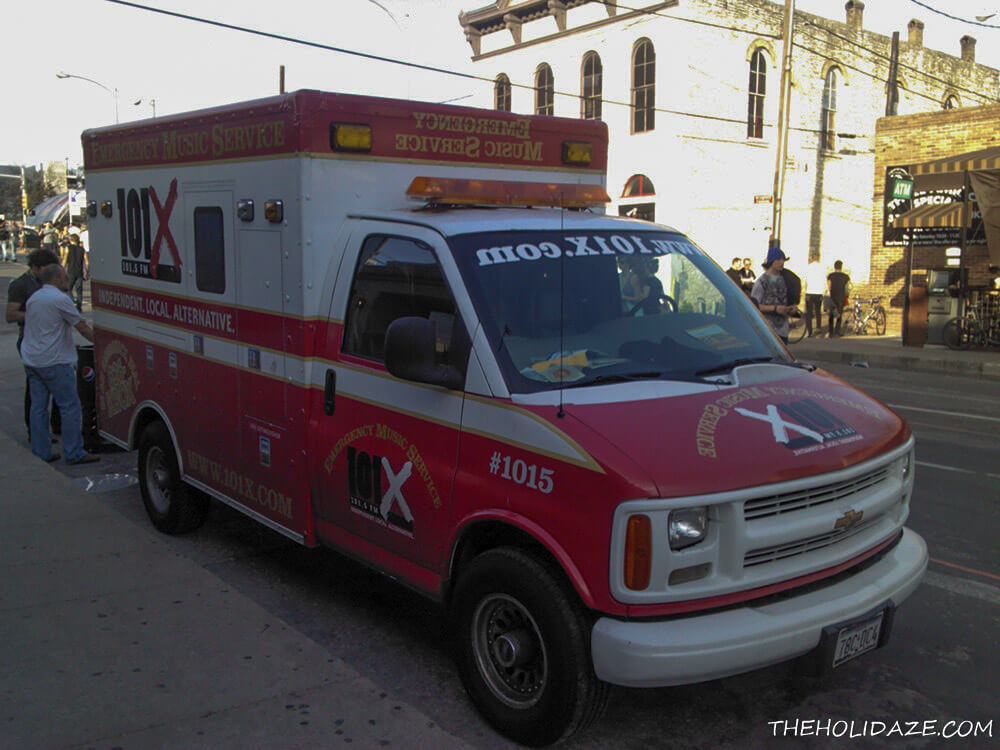 The 101X radio station van at SXSW 2012 in Austin, Texas