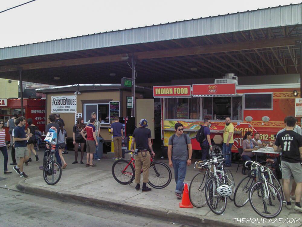 Food trucks at SXSW 2012 in Austin, Texas