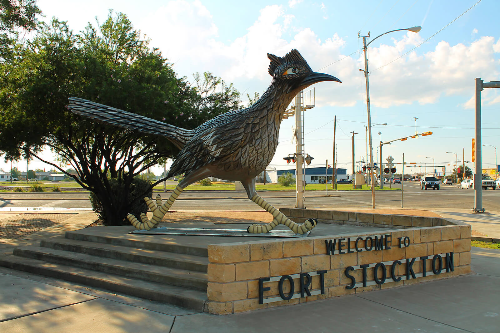 When driving from Austin to El Paso, don't miss the Paisano Pete Roadrunner in Fort Stockton, Texas