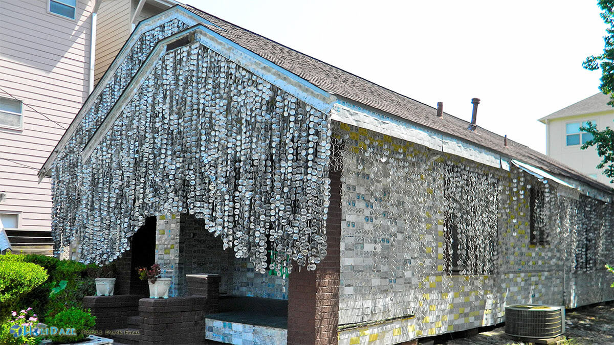 The offbeat Houston beer can house, one of the cool and quirky things to do in Houston that you won't find in Lonely Planet or TripAdvisor