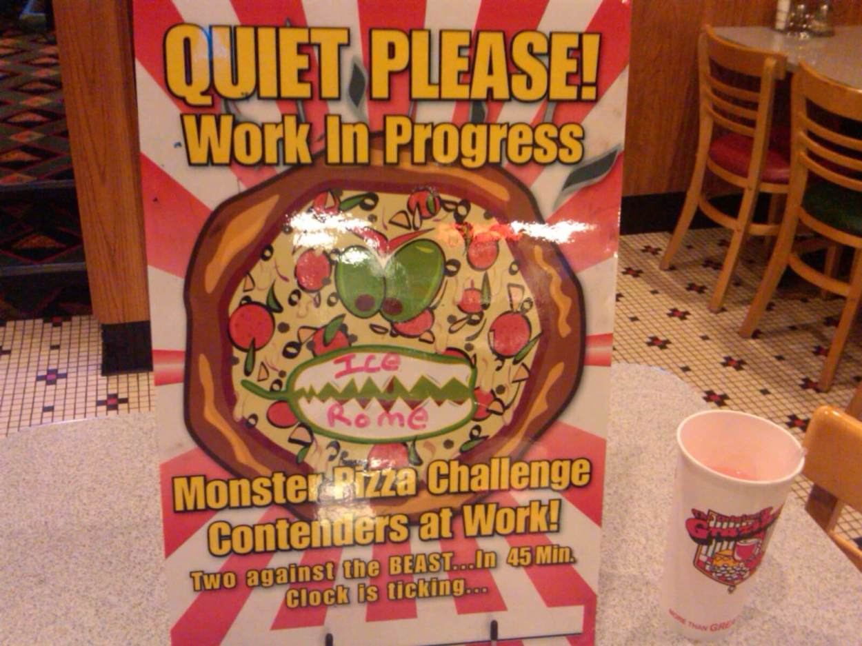 Graziano's famous monster pizza challenge in Las Vegas, Nevada -- only for true foodies and food fanatics