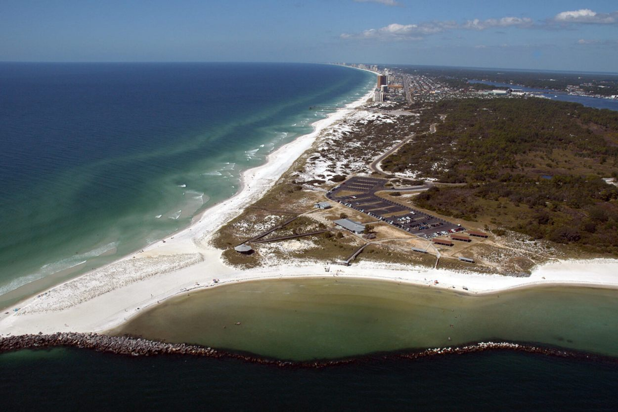 St Andrews State Park in Panama City, Florida
