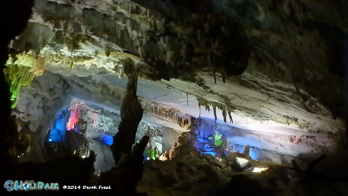 The colorful Phong Nha Cave