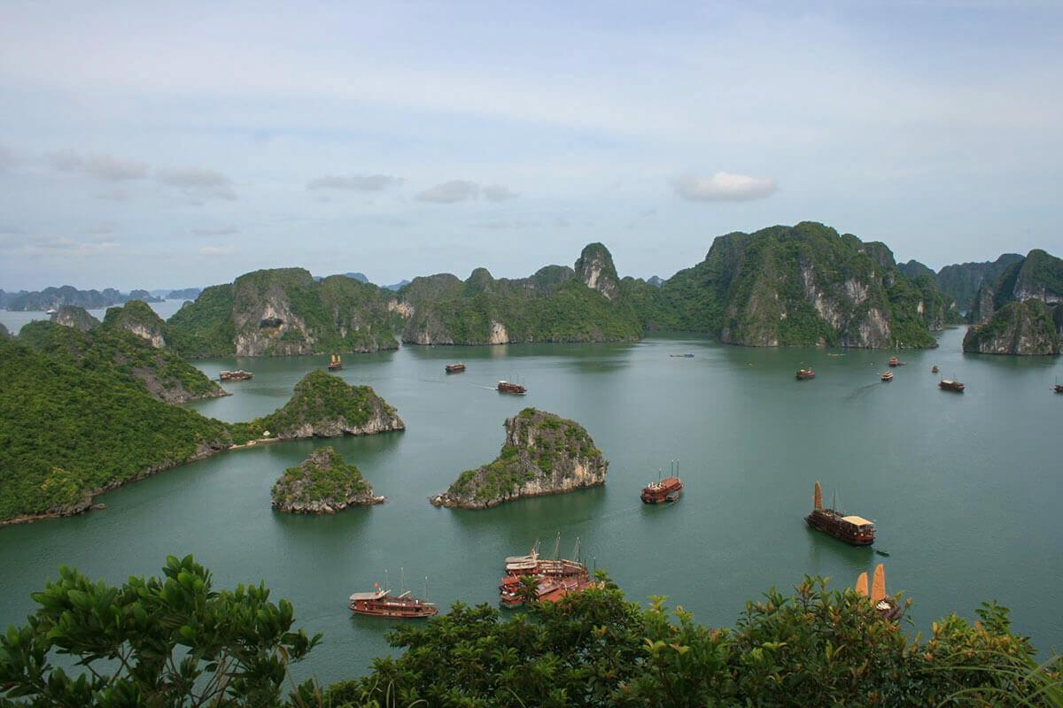 Halong Bay in Vietnam, a UNESCO World Heritage Site