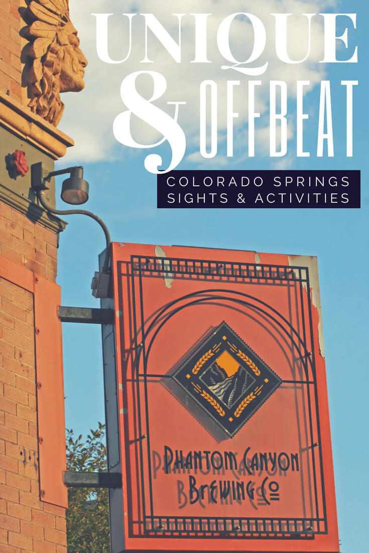Unique and offbeat Colorado Springs sights, activities and things to do #colorado #travel #traveltips #coloradosprings #usa #offbeat #travelguide