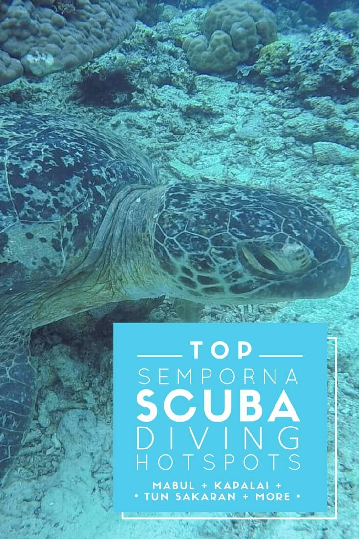 More than a dozen islands just off the coast of Semporna, Sabah are great places for scuba diving -- including Sipadan Island, one of the top three dive spots in the entire world!