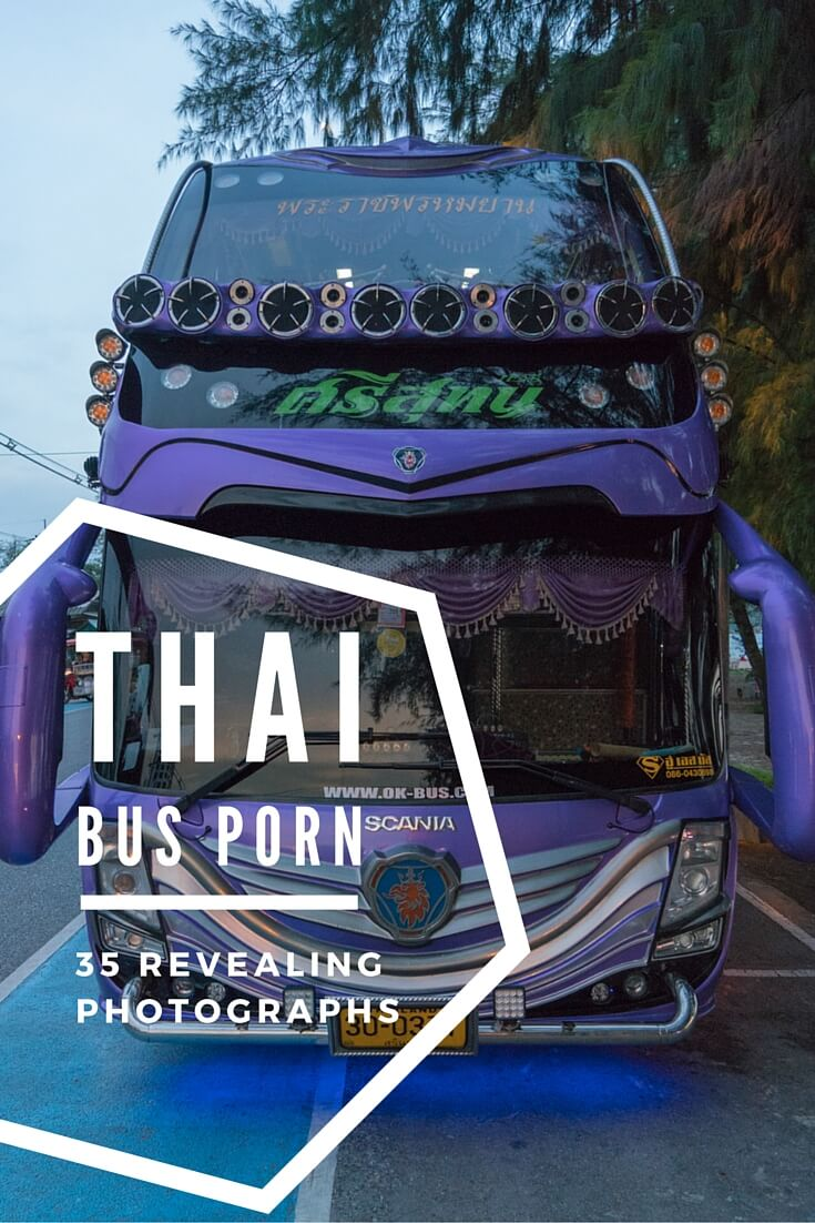 Smooth curves. Flawless style and grace. A beautiful exterior that conceals the workhorse within. The envy of every foreigner. Yes, Thai buses are sexy.