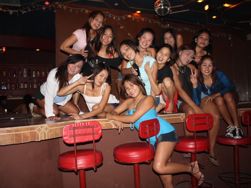 The girls of Gecko's, Angeles City