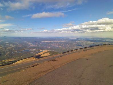 View from halfway up Pike's Peak in Colorado Springs
