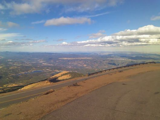 View from halfway up Pike's Peak in Colorado Springs
