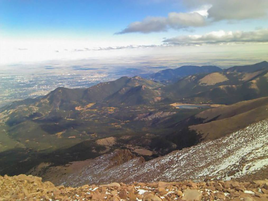At the summit of Pike's Peak in Colorado, the United States
