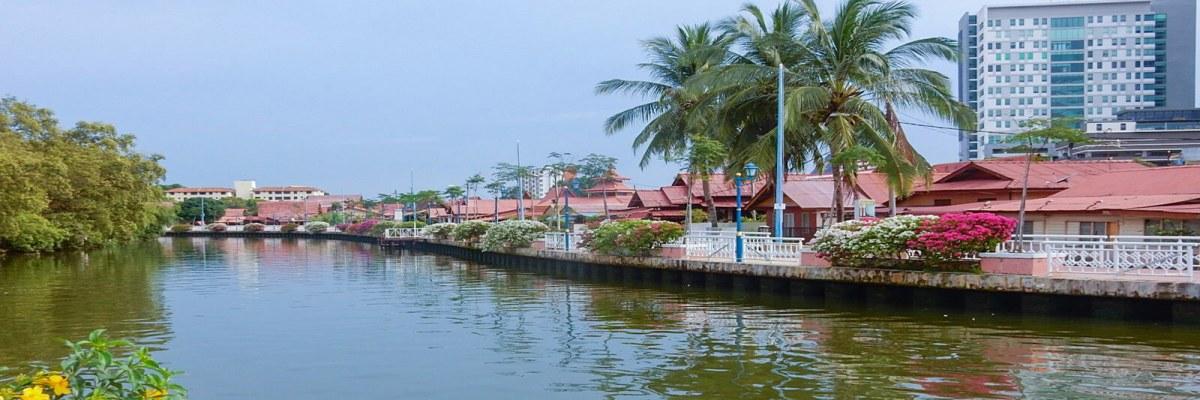 A river runs through Malacca, Malaysia