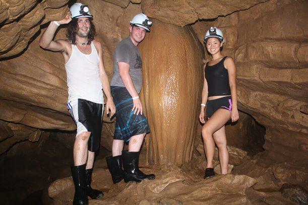 Exploring the Venado Caves near Arenal Volanco