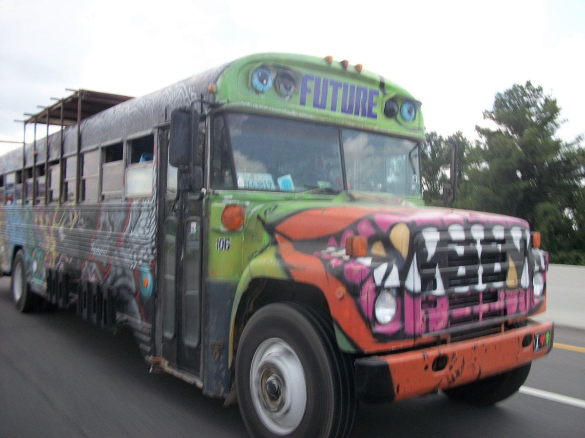 The Future Bus. This beast was at the heart of our 6-month long hippie road trip