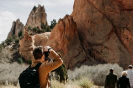 Photographer at Garden Of The Gods in Colorado Springs