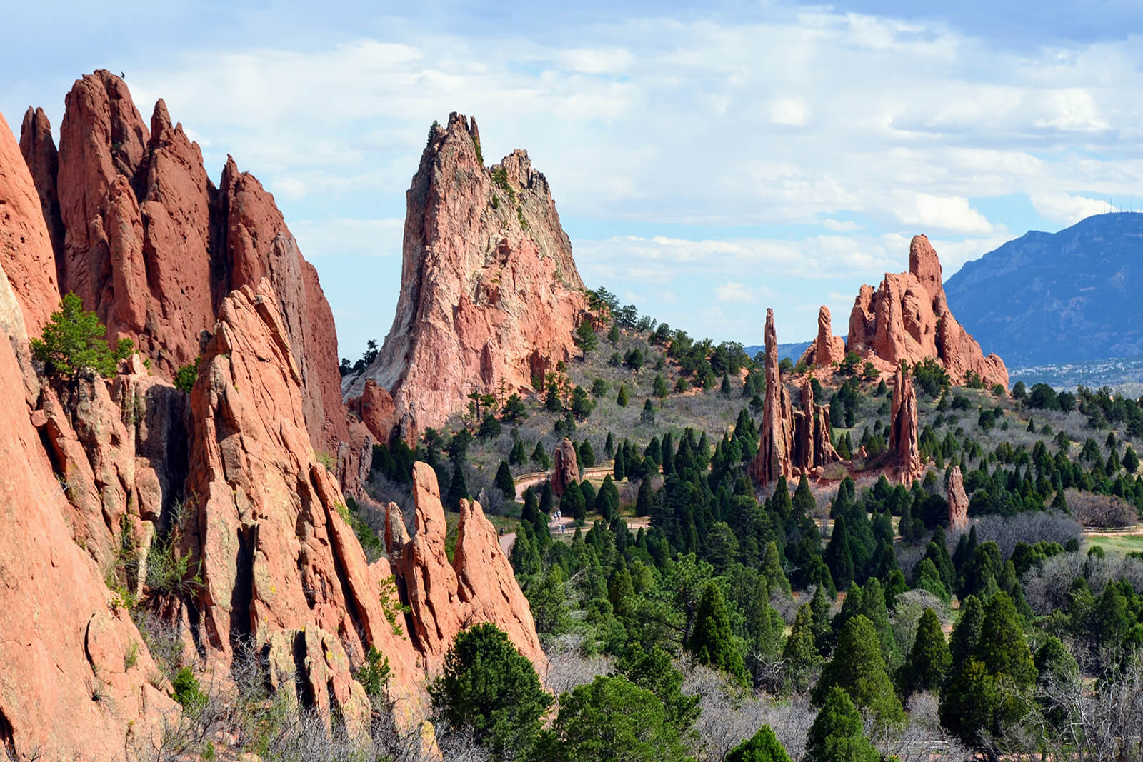 Garden Of The Gods in Colorado Springs, Colorado, USA