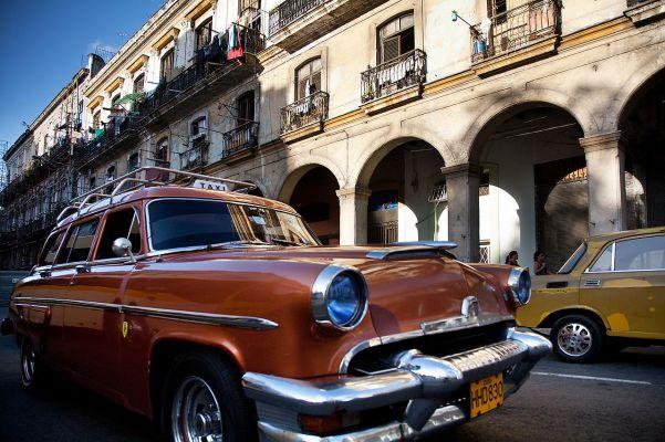 Classic taxi in Havana