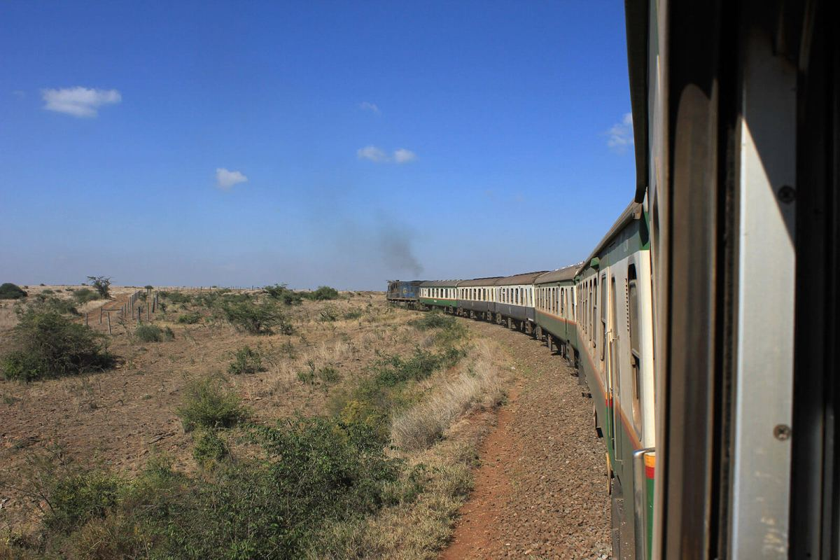 The Lunatic Express train from Nairobi to Mombasa, Kenya