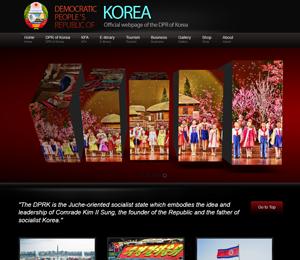 Screenshot: Official DPRK Site