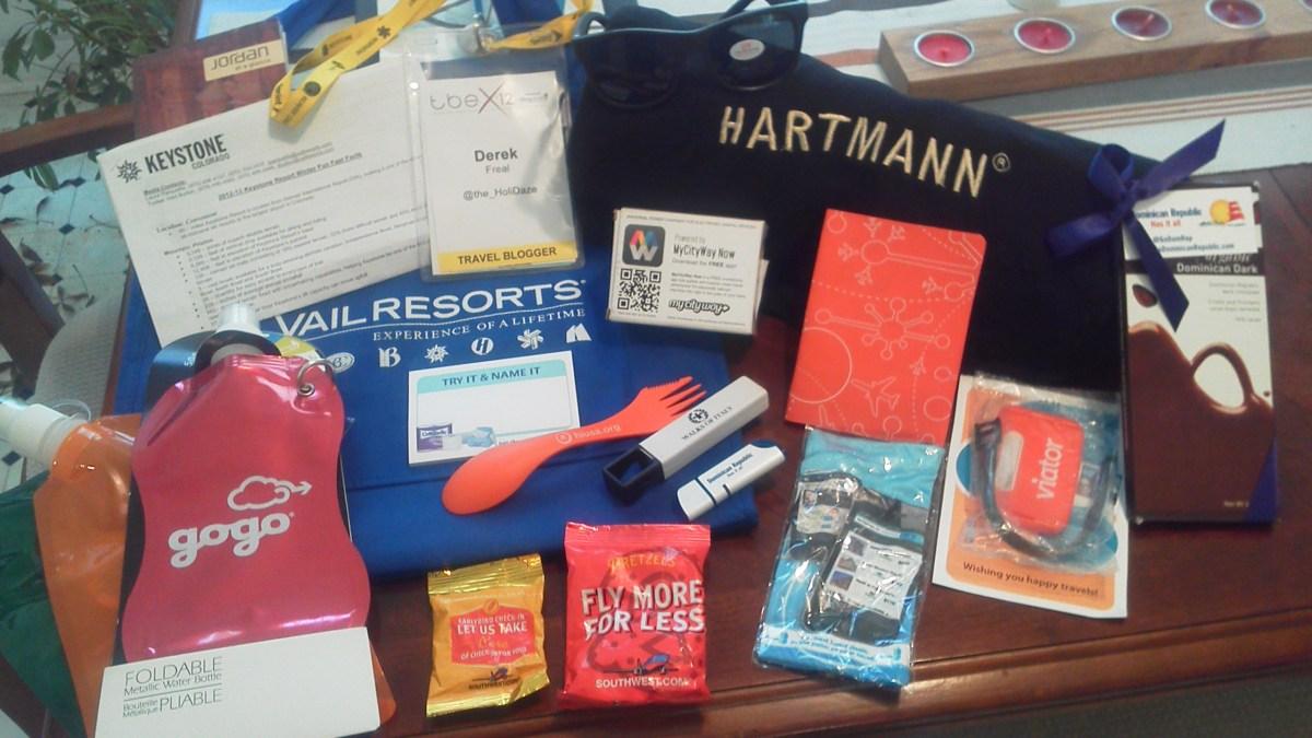 Inside The TBEX 2012 Gift Bag