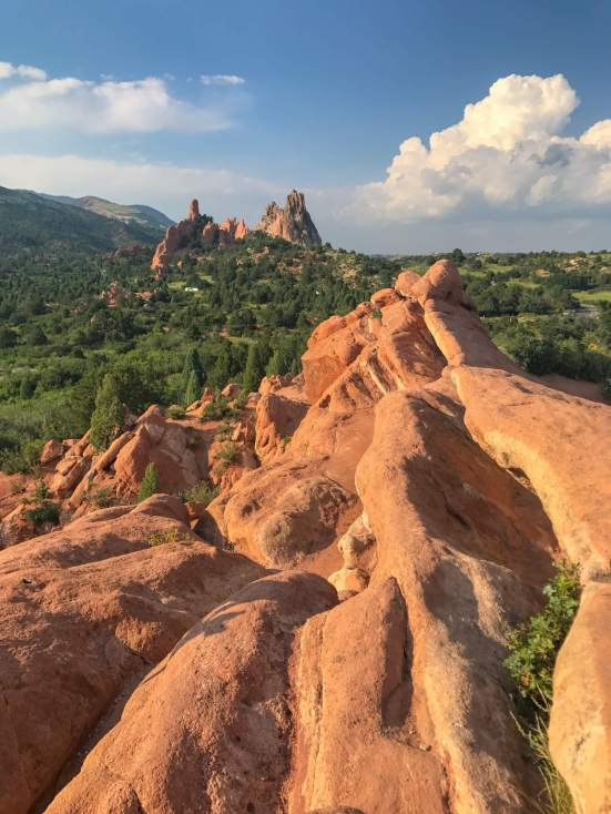 Garden Of The Gods in Colorado Springs is famous for its red rocks