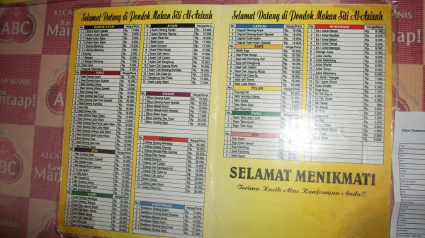 Bubur Ayam Sukabumi menu
