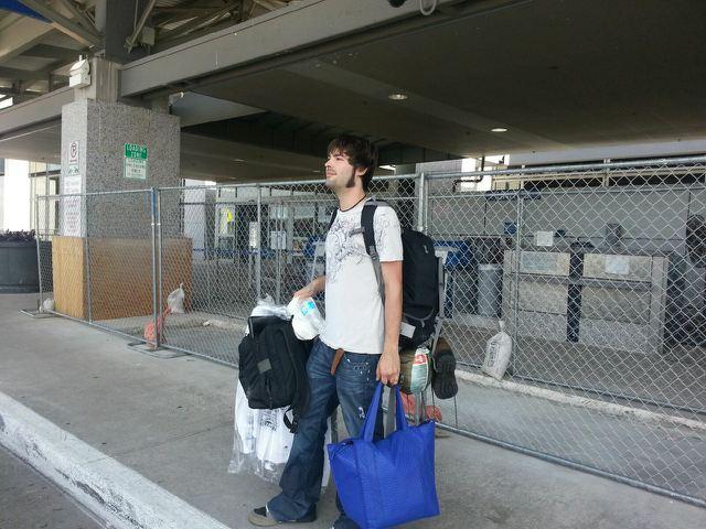 Derek & his bags