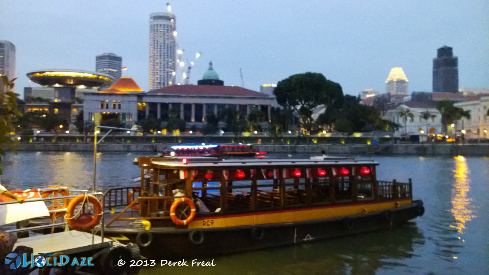 Marina Bay, Singapore, at sunset