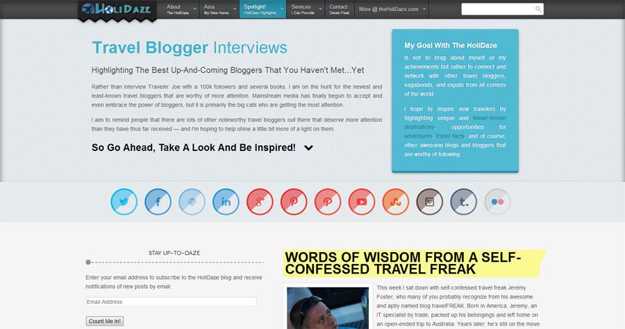 The New HoliDaze Blog Interviews