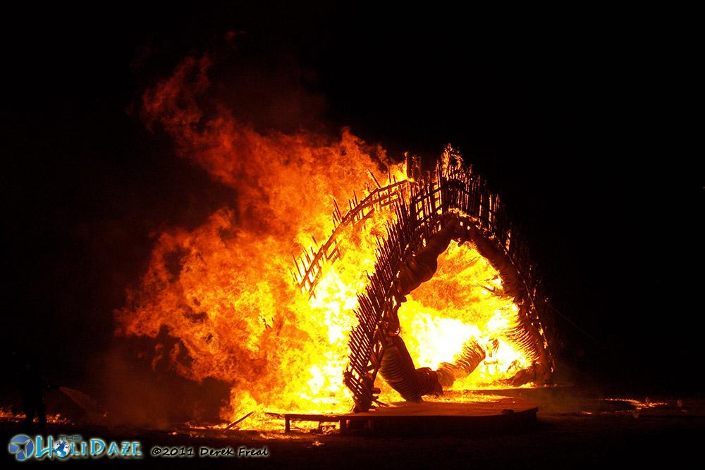 Burning Flipside Effigy Burn